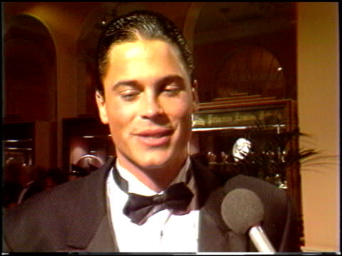 Rob Lowe at the 1988 Golden Globe Awards at the Beverly Hilton in Beverly Hills California on January 23 1988