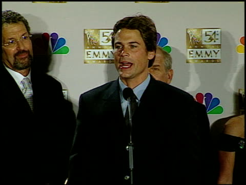 Rob Lowe at the 2002 Emmy Awards Press Room at the Shrine Auditorium in Los Angeles California on September 22 2002