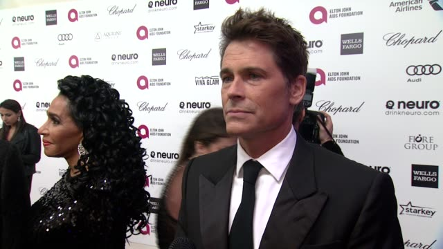 INTERVIEW Rob Lowe at the 23rd Annual Elton John AIDS Foundation Academy Awards Viewing Party Sponsored By Chopard Neuro Drinks And Wells Fargo on...