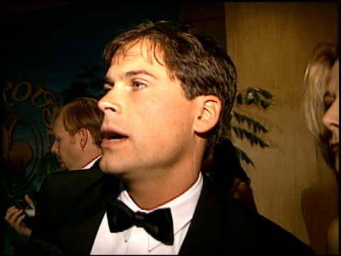 rob lowe at the carousel of hope gala at the beverly hilton in beverly hills california on october 25 1996 - rob lowe stock videos & royalty-free footage
