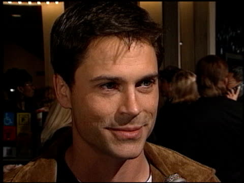 Rob Lowe at the 'Kissing a Fool' Premiere on February 18 1998