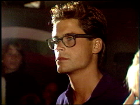 Rob Lowe at the Laker video 'Back to Back' Premiere at Roxy in West Hollywood California on January 1 1988