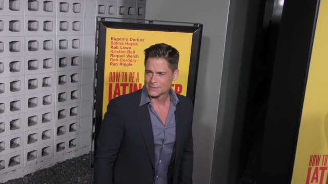 rob lowe at the premiere of pantelion films' 'how to be a latin lover' on april 26 2017 in hollywood california - rob lowe stock videos & royalty-free footage