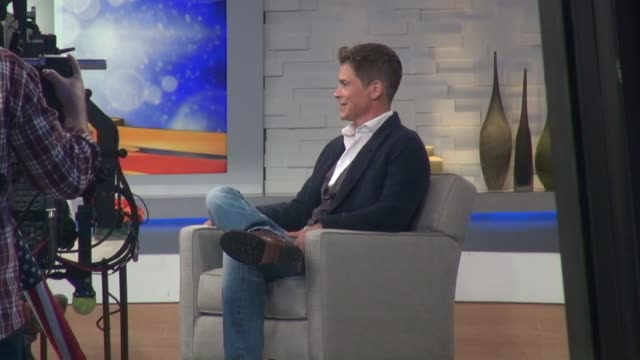 rob lowe being interviewed on the set of the good morning america show in celebrity sightings in new york - rob lowe stock videos & royalty-free footage