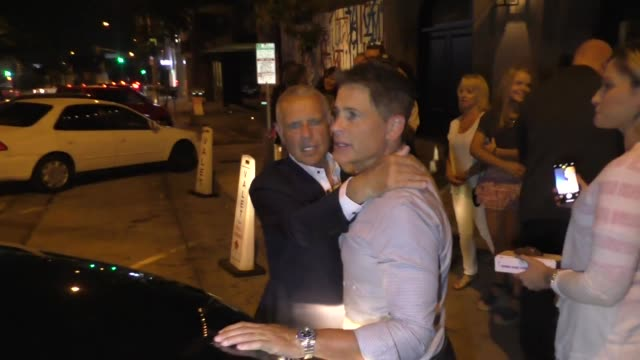rob lowe charles d lowe outside craig's restaurant in west hollywood in celebrity sightings in los angeles - rob lowe stock videos & royalty-free footage