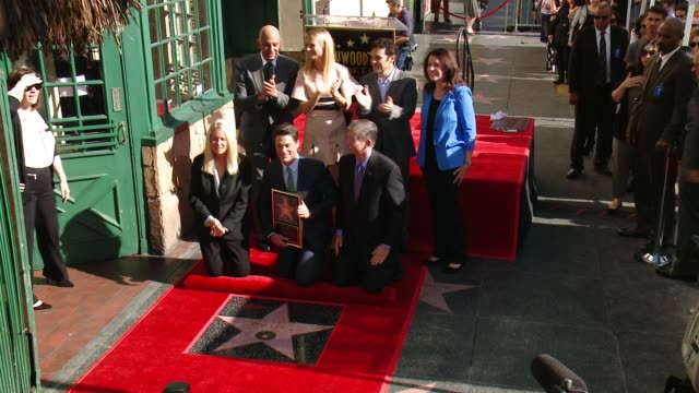 rob lowe gwyneth paltrow and fred savage at rob lowe honored with star on the hollywood walk of fame at hollywood walk of fame on december 08 2015 in... - gwyneth paltrow stock videos and b-roll footage