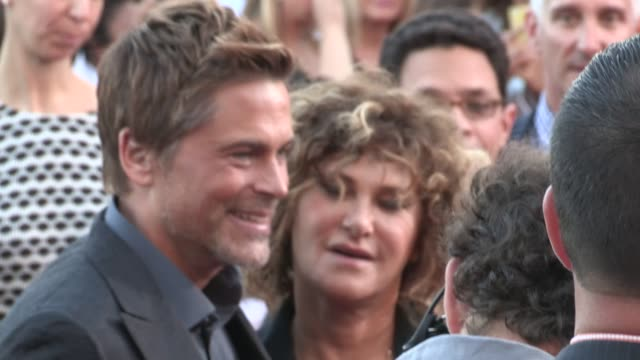 Rob Lowe Lainie Kazan at the Sex Tape Premiere in Westwood at Celebrity Sightings in Los Angeles on July 10 2014 in Los Angeles California