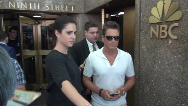 Rob Lowe leaving NBC Studios in Celebrity Sightings in New York