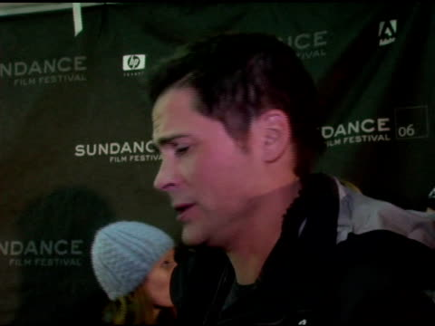 Rob Lowe on helicopter skiing at the 2006 Sundance Film Festival 'Thank You For Smoking' Premiere at Eccles Theatre in Park City Utah on January 23...
