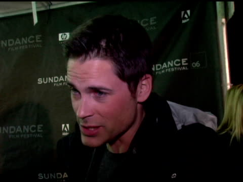 Rob Lowe on the film at the 2006 Sundance Film Festival 'Thank You For Smoking' Premiere at Eccles Theatre in Park City Utah on January 23 2006