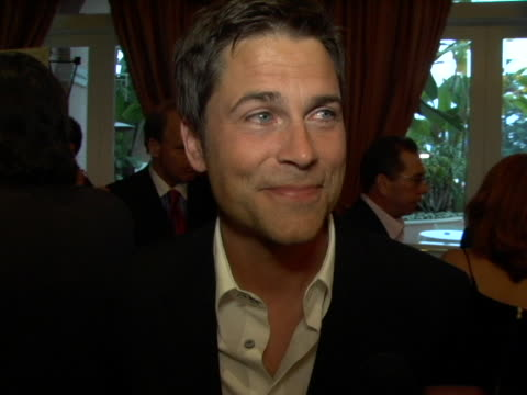 Rob Lowe on why he is supporting the cause on the symptoms of the disease on his advice on seeking medical help on his up coming pojects at the 6th...