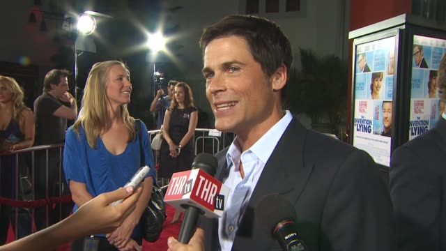 Rob Lowe on working with Ricky Gervais his character's appearance at the 'The Invention Of Lying' Premiere at Hollywood CA