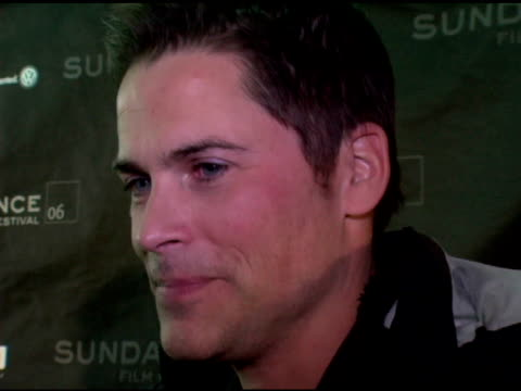 rob lowe on working with the cast of the film at the 2006 sundance film festival 'thank you for smoking' premiere at eccles theatre in park city utah... - rob lowe stock videos & royalty-free footage
