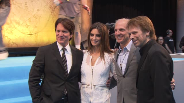 Rob Marshall Penelope Cruz John Deluca Jerry Bruckheimer at the Pirates of the Caribbean On Stranger Tides UK Premiere at London England