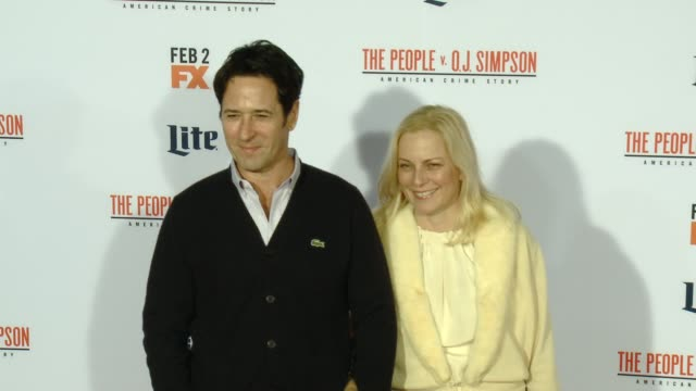 rob morrow at fx's the people v oj simpson american crime story premiere at westwood village theatre on january 27 2016 in westwood california - westwood village stock-videos und b-roll-filmmaterial