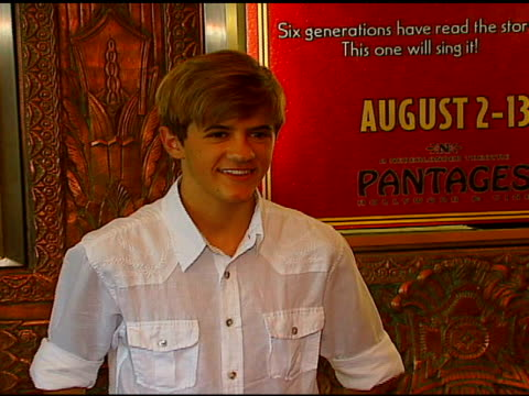 Rob Pinkston at the Los Angeles Opening of 'Little Women' at Pantages Theater in Hollywood California on August 2 2006