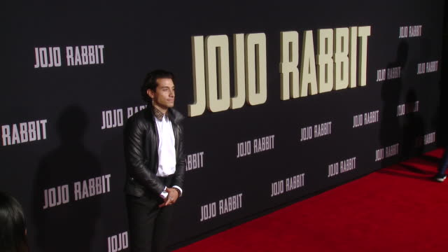 """rob raco at the """"jojo rabbit"""" los angeles premiere presented by fox searchlight pictures in los angeles ca - fox searchlight pictures stock videos & royalty-free footage"""