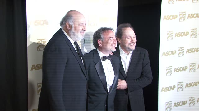 rob reiner marc shaiman and billy crystal at the ascap film and tv music awards at the kodak theatre in hollywood california on april 17 2007 - billy crystal stock videos & royalty-free footage