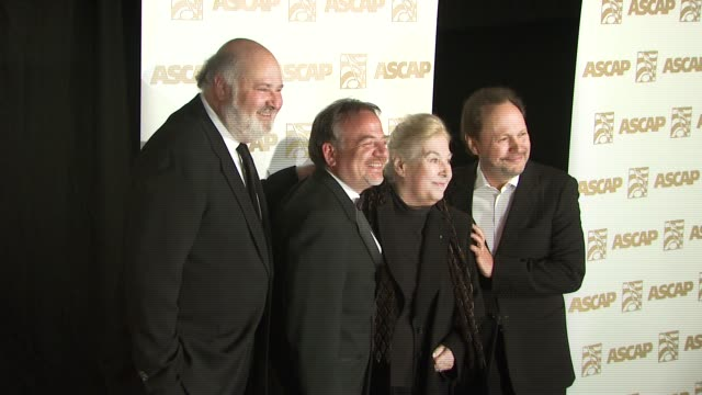 rob reiner marilyn bergman marc shaiman and billy crystal at the ascap film and tv music awards at the kodak theatre in hollywood california on april... - billy crystal stock videos & royalty-free footage