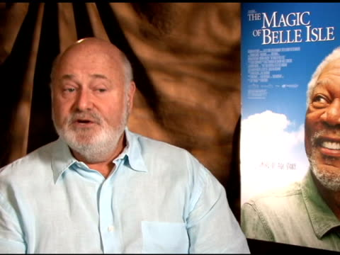 rob reiner on the kiss between morgan freeman and virginia madsen in the film at 'the magic of belle isle' los angeles press junket interview rob... - virginia madsen stock videos & royalty-free footage