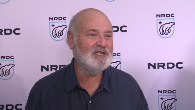interview rob reiner on why he wanted to support the nrdc at nrdc stand up for the planet la 2017 in los angeles ca - national resources defense council stock videos & royalty-free footage