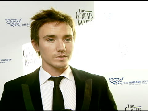 Rob Stewart 'Sharkwater' filmmaker on the event and being animalfriendly at the 2008 Genesis Awards at the Beverly Hilton in Beverly Hills California...