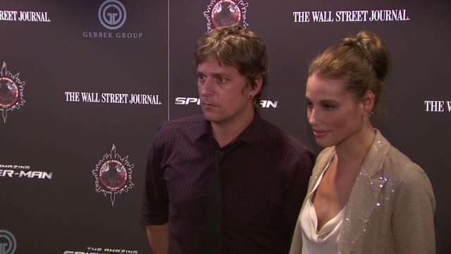 Rob Thomas and Marisol Thomas at The Amazing SpiderMan New York Special Screening at Regal Union Square Theatre Stadium 14 on June 28 2012 in New...