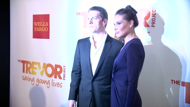 Rob Thomas and Marisol Thomas at The Trevor Project's 2014 TrevorLIVE Event Honoring Arianna Huffington at Marriott Marquis Hotel on June 16 2014 in...