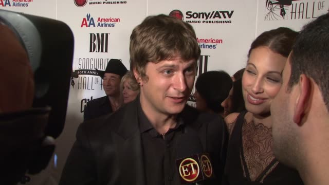 Rob Thomas and wife at the 2009 Songwriters Hall of Fame 40th Anniversary Induction Ceremony and Gala at New York NY