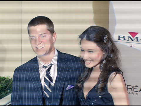 Rob Thomas and wife Marisol at the Clive Davis' 2005 PreGrammy Awards Party arrivals at the Beverly Hilton in Beverly Hills California on February 12...
