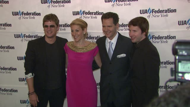 Rob Thomas Julie Greenwald Craig Kallman and James Blunt at the UJAFederation's Music Visionary of the Year Award Luncheon at New York NY