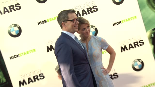 rob thomas katie thomas at veronica mars los angeles premiere at tcl chinese theatre on march 12 2014 in hollywood california - tcl chinese theatre stock videos & royalty-free footage