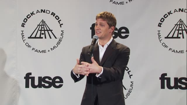 Rob Thomas on going to see Genesis and smoking his first joint at the 25th Annual Rock And Roll Hall Of Fame Induction Ceremony Press Room at New...