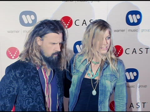 rob zombie and sherry moon at the warner music group's postgrammy party at pacific design center in west hollywood california on february 13 2005 - rob zombie stock videos & royalty-free footage