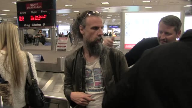 rob zombie arrives at salt lake city international airport for the sundance film festival on january 22 2016 in salt lake city utah - rob zombie stock videos & royalty-free footage