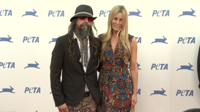 rob zombie at peta celebrates 35th anniversary with sir paul mccartney at hollywood palladium on september 30 2015 in los angeles california - rob zombie stock videos & royalty-free footage