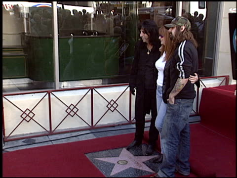 rob zombie at the dediction of alice cooper's walk of fame star at the hollywood walk of fame in hollywood california on december 2 2003 - rob zombie stock videos & royalty-free footage