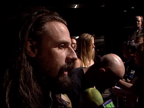 rob zombie at the 'house of 1000 corpses' premiere at arclight cinemas in hollywood california on april 9 2003 - house of 1000 corpses stock videos and b-roll footage