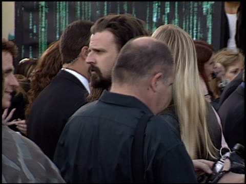 rob zombie at the premiere of 'the matrix reloaded' on may 7 2003 - rob zombie stock videos & royalty-free footage