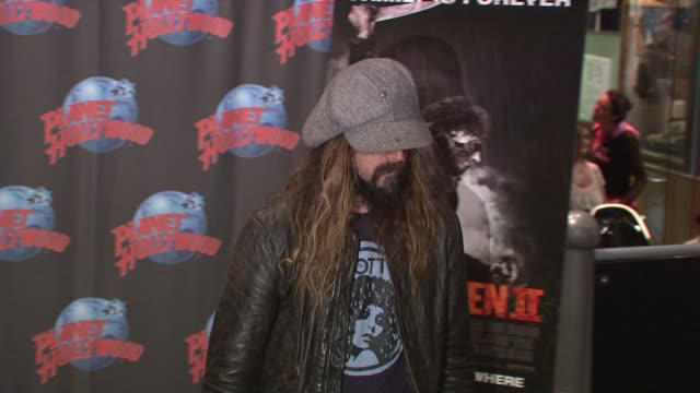 Rob Zombie at the Rob Zombie Sheri Moon Zombie Donate Memorabilia at Planet Hollywood at New York NY