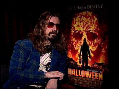 rob zombie discusses his favorite directors the lack of down time on the set what he does when not on the set and going back on tour at the... - rob zombie stock videos & royalty-free footage