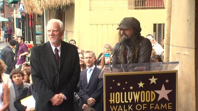 rob zombie on working with malcolm mcdowell at malcolm mcdowell honored with star on the hollywood walk of fame in hollywood ca on 3/16/2012 - rob zombie stock videos & royalty-free footage