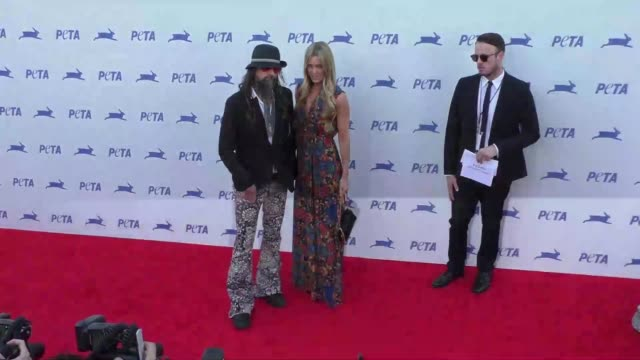 rob zombie sheri moon zombie at the peta's 35th anniversary party at hollywood palladium in hollywood on september 30 2015 in los angeles california - rob zombie stock videos & royalty-free footage