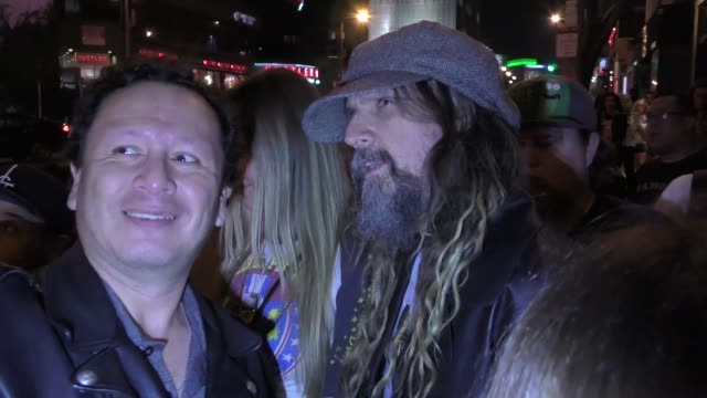 rob zombie sheri moon zombie outside whisky a go go in west hollywood in celebrity sightings in los angeles - rob zombie stock videos & royalty-free footage