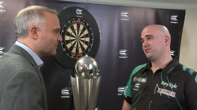 Robb Cross beats Phil Taylor to become World Champion Robb Cross interview SOT