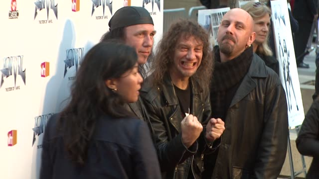 robb reiner steve 'lips' kudrow at the 'anvil the story of anvil' premiere at los angeles ca - anvil the story of anvil stock videos and b-roll footage