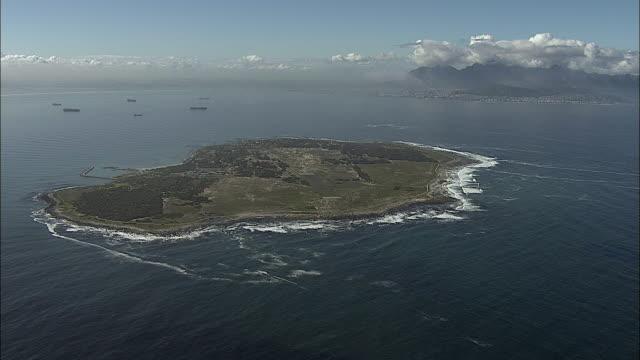 AERIAL WS Robben Island, Western Cape, South Africa