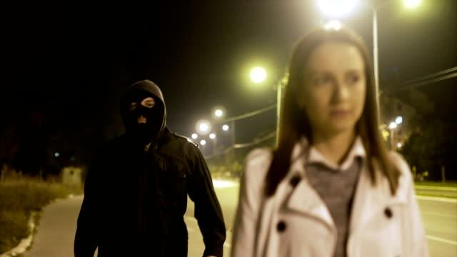 robber stealing businesswoman bag in the street - prisoner walking stock videos & royalty-free footage