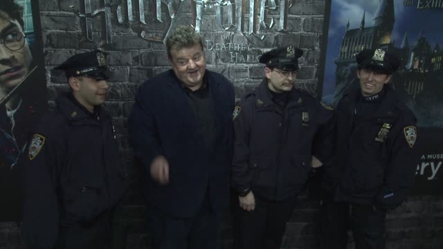 Robbie Coltrane and NYPD at the Launch Event for the Home Entertainment release of Harry Potter and the Deathly Hallows Part 1 at New York NY