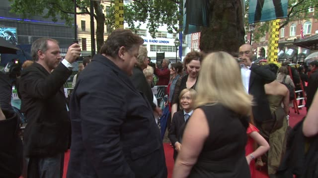 Robbie Coltrane at the Harry Potter And The HalfBlood Prince at London England